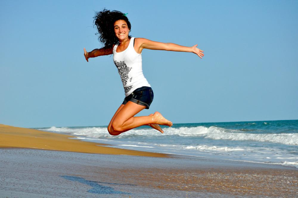 A Girl is Jumping